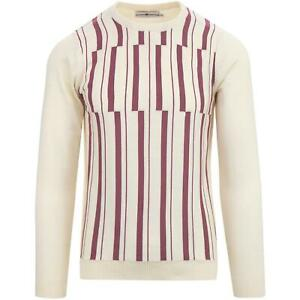 MENS-MADCAP-ENGLAND-RETRO-MOD-60s-70s-ABSTRACT-STRIPE-JUMPER-Amadeus-MC484