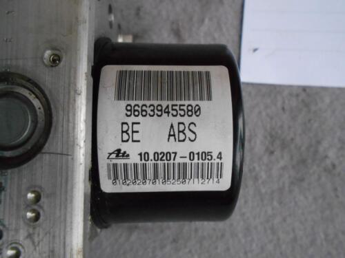 PEUGEOT 207 CITROEN C2 C3 ABS PUMP 9663945580 10.0207-0105.4 ECU 10.0970-1146.3