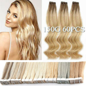 Balayage-Tape-In-Skin-Weft-100-Remy-Human-Hair-Extensions-Thick-8A-150G-12-034-24-034