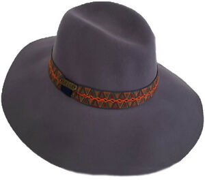 e4ed5d609b2 Women s Fall Winter Hats 100% Wool Felt Floppy Fedora Wide Brim ...