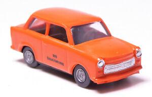 H0-Modelltec-AUTO-TRABANT-P-601-S-BVB-INSERTO-veicolo-Orange-DDR-13000018