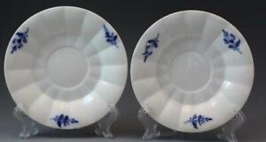 Royal-Copenhagen-Blue-Flower-Pair-of-Teacup-Saucers-C1940s