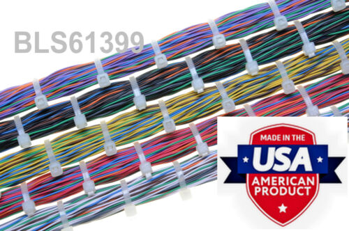 """400 USA Made TOUGH TIES 6/"""" inch 40lb Nylon Tie Wraps Wire Cable Zip Ties RGBY"""