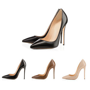 Onlymaker-Sexy-Women-039-s-Pointed-Toe-High-Heel-Slip-On-Stiletto-Pumps-Large-Size
