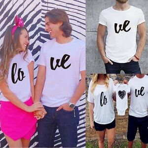 Couple T-Shirt Men Women Baby Love Matching Shirt Family Clothes Tee Tops Blouse