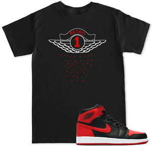 9a1026f6c3829f Retro 1 Red T Shirt to match with Air Jordan RETRO 1 Bred Banned OG ...