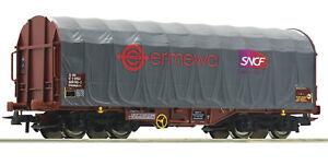 Roco-H0-76450-Schiebeplanenwagen-034-Bauart-Shimmns-034-der-Ermewa-NEU-OVP