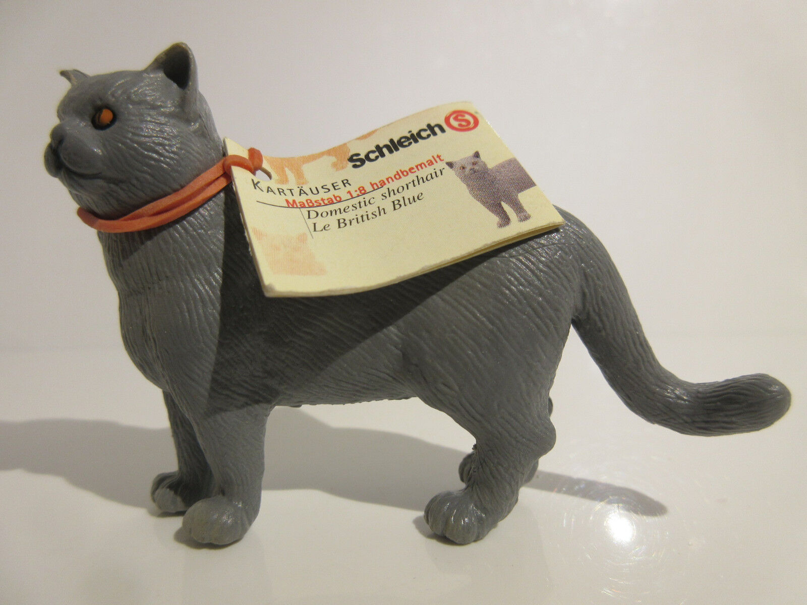 16651 Schleich Cat   British Blau Cat, standing  booklet   ref   21P9