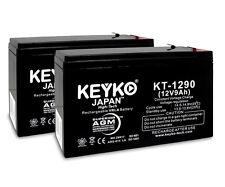 TrueSpeed Power Rider SL 250 12V 9Ah SLA KEYKO ® AGM Replacement Battery 2PK