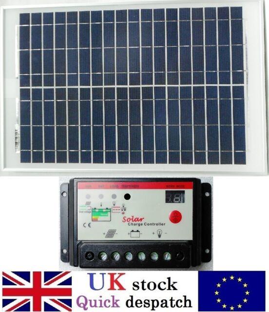 25w 40w 50w 80w 100w 120w Solar Panel c/w 10A PWM Charger Controller 12v Battery