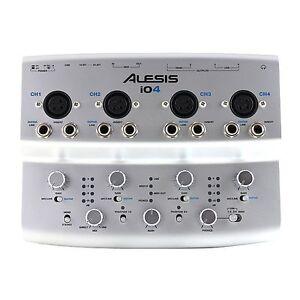 alesis io4 usb 4 channel 24 bit recording studio audio interface i04 ebay. Black Bedroom Furniture Sets. Home Design Ideas