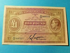 1940s-Government-of-Malta-1-POUND-Bank-Note-Pic-20b-VF-EF