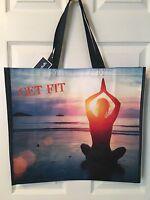 Yoga Get Fit Shopping Bag Reusable Travel Tote Eco Friendly Marshalls