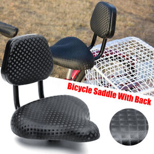 Wide-Comfort-Cruiser-Tricycle-Bike-Bicycle-Saddle-Seat-Pad-With-Back-Rest-Black