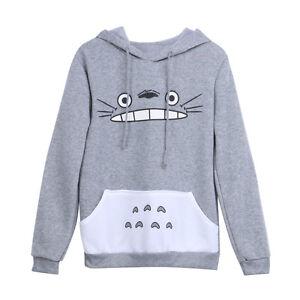 Cute-Cartoon-Totoro-Print-Hoodie-Girls-Jacket-Slim-Sweatshirt-Coat-Pullover-Tops