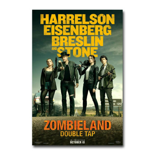 Zombieland Double Tap Movie Poster Art Silk Canvas Poster Print 24x36 inch
