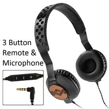 House Of Marley Liberate Midnight On-Ear Headphones iPhone iPod Mic3+ Remote