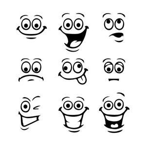 3-2-034-SMILEY-FACES-x9-Vinyl-Decal-Sticker-Car-Window-Laptop-Funny-Face