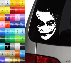 Auto Aufkleber Car Sticker Joker Gesicht Face grinsend Größe /& Farbe wählbar #15