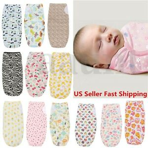 Brand 0-3 Months new Baby Infant 100% Cotton Swaddle Wrap Swaddling ... 6588d8015
