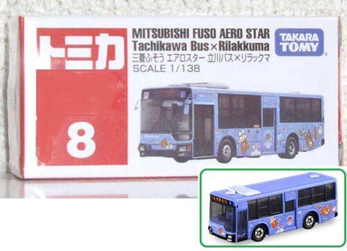 1//138 Tomica #8 MITSUBISHI FUSO AERO STAR Tachikawa Bus x Rilakkuma TakaraTomy