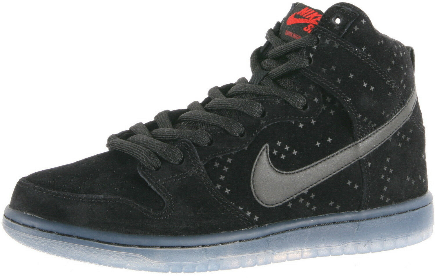 Nike DUNK HIGH PREM FLASH SB Black Black-Clear 806333-001 (567) Men's shoes