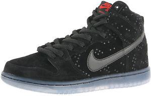 premium selection 724f1 2b3e8 Image is loading Nike-DUNK-HIGH-PREM-FLASH-SB-Black-Black-