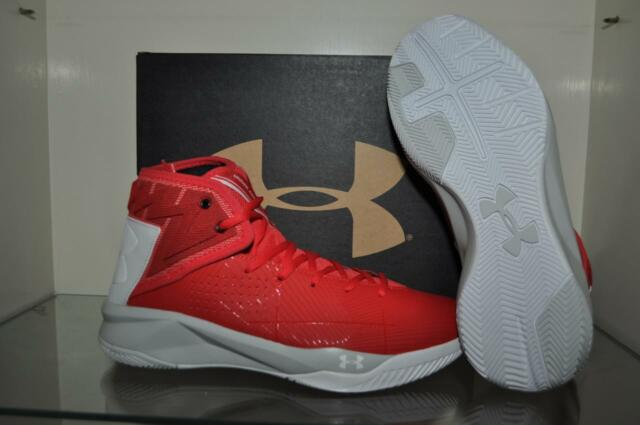 best loved 5bba4 dfbc1 Under Armour Rocket 2 Mens Basketball Shoes 1286385 600 Red/Elemental NIB