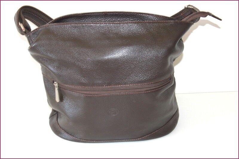 SABRINA Tasche Leder Leder Leder gemasert dunkelbraun getragen Schulter seht guter Zustand   Diversified In Packaging    Mangelware    Flagship-Store  005378