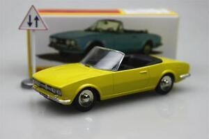 1423-Cabriolet-504-GIALLO-DINKY-TOYS-ATLAS-in-LEGA-PEUGEOT-AUTO-MODELLO-ROADSTER-1-43