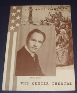 1939-Center-Theatre-Souvenir-Playbill-Frederic-March-in-The-American-Way