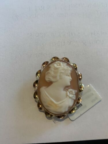 Antique Cameo Pendant, 10 K Y/G Pin