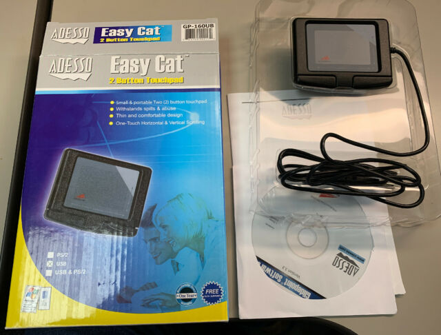 Adesso GP-160UB Easy Cat 2 Button Glidepoint Touchpad Black