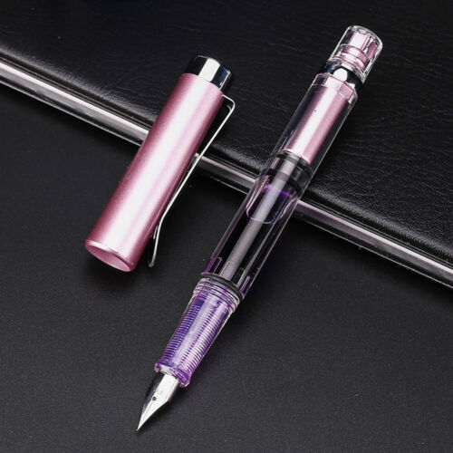 New 1PC Fountain Pen Stationery Refill Office Gift Writing Pens Fine Nib 0.5mm