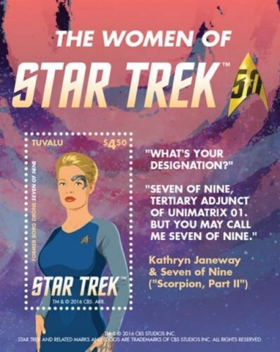 Seven of Nine S//S  MNH 2015 Women Of Star Trek Tuvalu