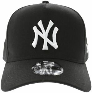 New Men s New Era New Era Yankees 940 A-frame Snapback Black white ... 8489fa97d17