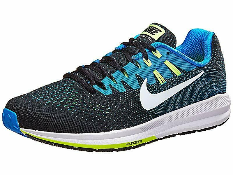 Nike Men's Air Zoom Structure 20  Running shoes, bluee Lime Green, 15 4E(XW) US  supply quality product