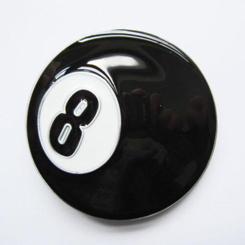 8-Ball Billiard Pool Metal Belt Buckle