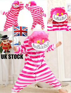 9ecc3ce26 Image is loading Unisex-Adult-Kids-Cheshire-cat-Kigurumi-Pajamas-Cosplay-