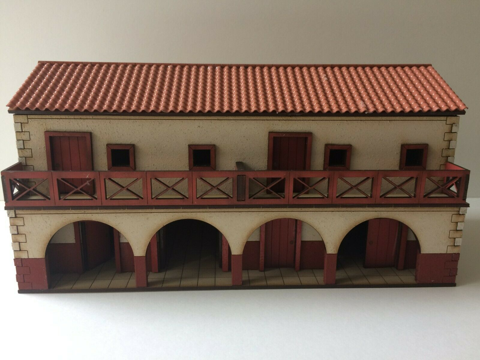 28mm ROMAN  large Shop houses prepainted kit