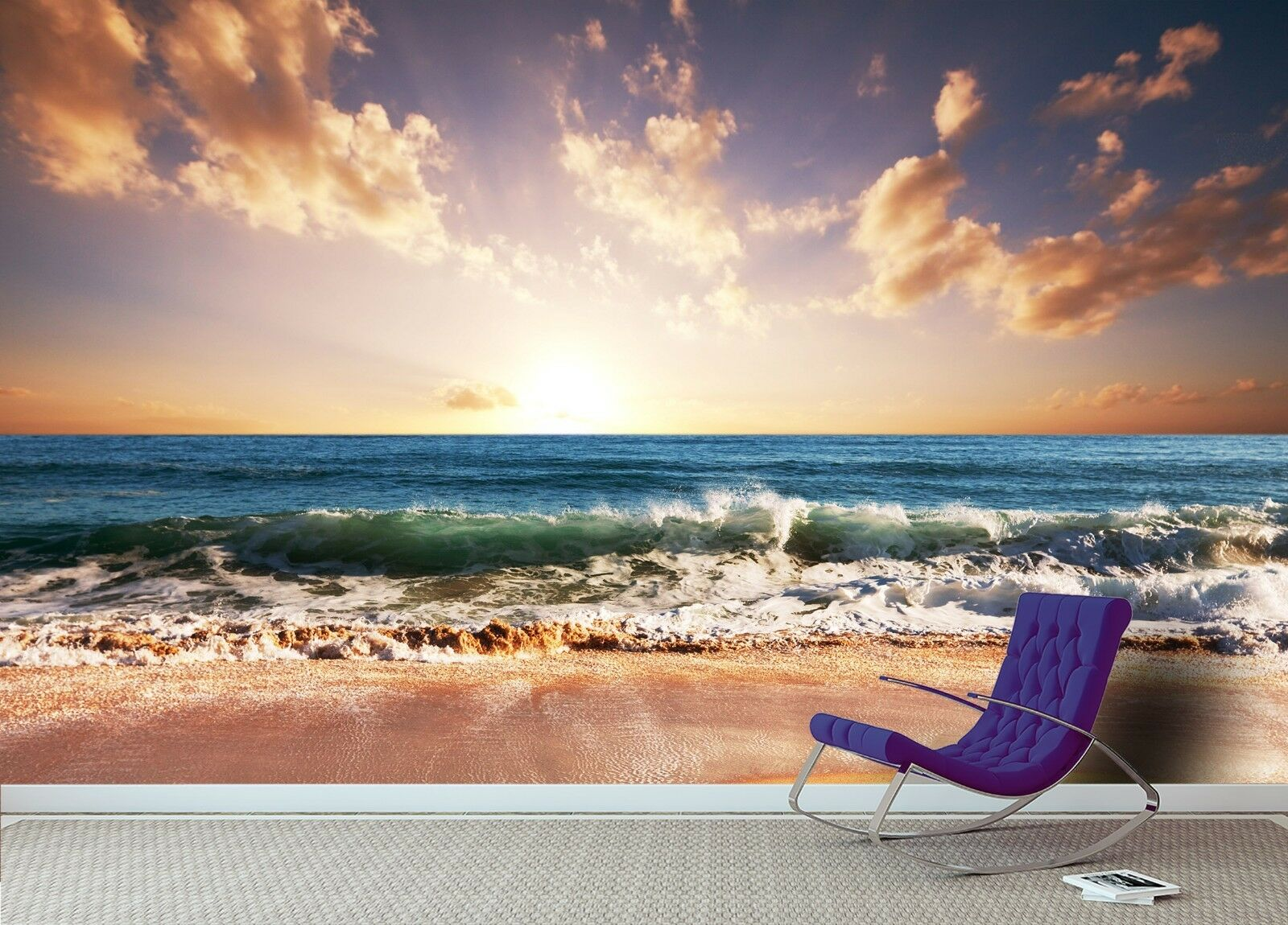 3D Sky Waves 7228 Wall Paper Print Wall Decal Deco Indoor Wall Murals US Summer