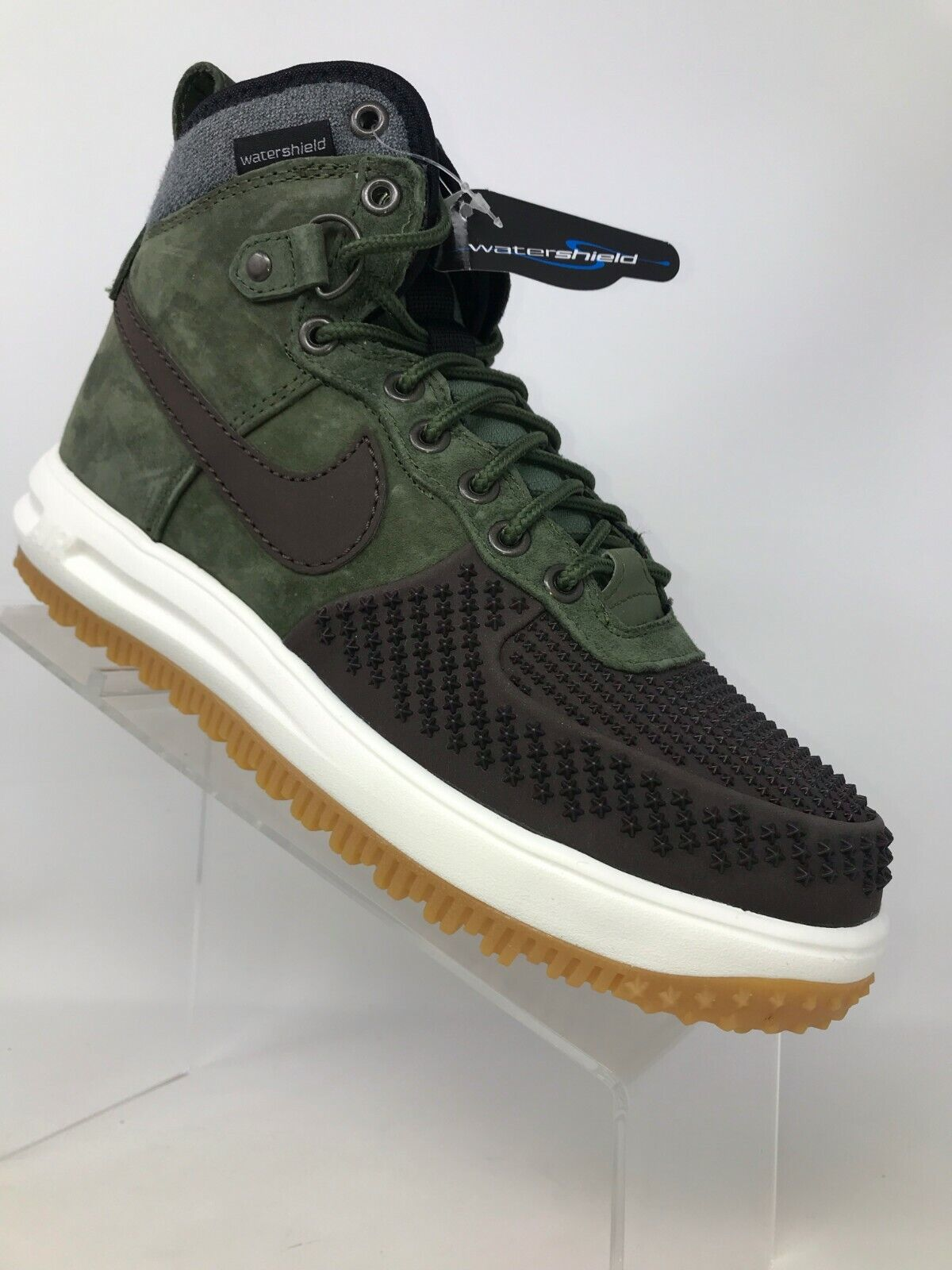 Nike Lunar Force 1 Duckboot Baroque Brown Army Olive Black 805899 200 Men 7