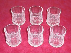 lot de 6 verres digestif en cristal d 39 arques mod le longchamp comme neuf ebay. Black Bedroom Furniture Sets. Home Design Ideas