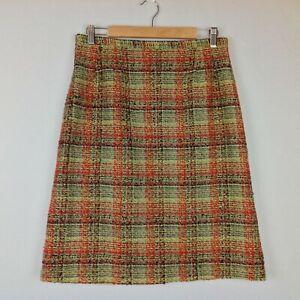 eea375dbcd18 Vintage Harve Benard Skirt Womens 12 Tweed Wool Blend Plaid | eBay