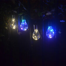 US LED Solar Light Bulb Nightlight Camping Hanging Outdoor Rotatable Lamp #2