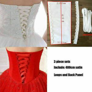 3pcs wedding dresses corset kit back panel satin straps