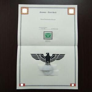 Germany-Nazi-1944-Stamp-MNH-Emblem-bright-green-Swastika-Eagle-WWII-3rd-Reich-Ge