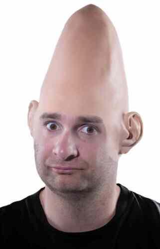 Alien Dome Cap Bald Cone Coneheads Halloween Costume Makeup Latex Prosthetic
