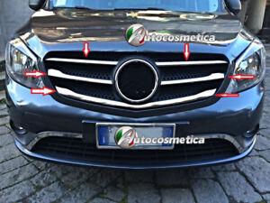 Modanature Mercedes Citan 5  Cornici Acciaio Cromo Stampati Griglia Cofano