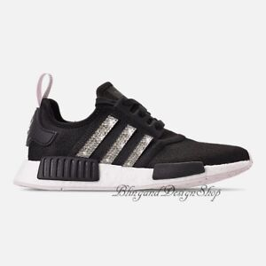 sports shoes 52d56 5fc11 Image is loading NWT-Women-039-s-Bling-Adidas-NMD-R1-